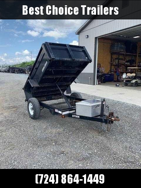 USED 2009 Bri-Mar 5x8 Dump Trailer * SOLAR CHARGER * ALUMINUM TOOLBOX * SPARE TIRE * COAL SHUTE W/ EXTRA TALL GATE