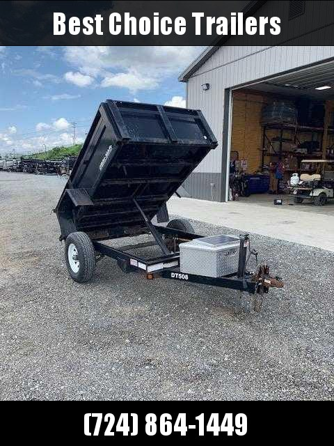 USED 2009 Bri-Mar 5x8 Dump Trailer * SOLAR CHARGER * ALUMINUM TOOLBOX * SPARE TIRE * COAL SHUTE W/ EXTRA TALL GATE in Ashburn, VA