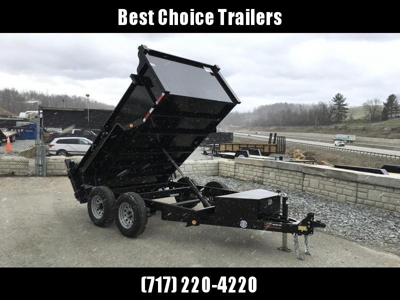 2020 QSA 6x10' Low Profile SD Dump Trailer 9850# GVW * 2' HIGH SIDES * OVERSIZE TOOLBOX * DROP LEG JACK * FRONT/REAR BULKHEAD
