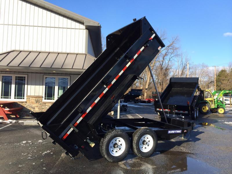 2019 Sure-Trac 7x14' LowPro HD Dump Trailer 14000# GVW - TELESCOPIC HOIST