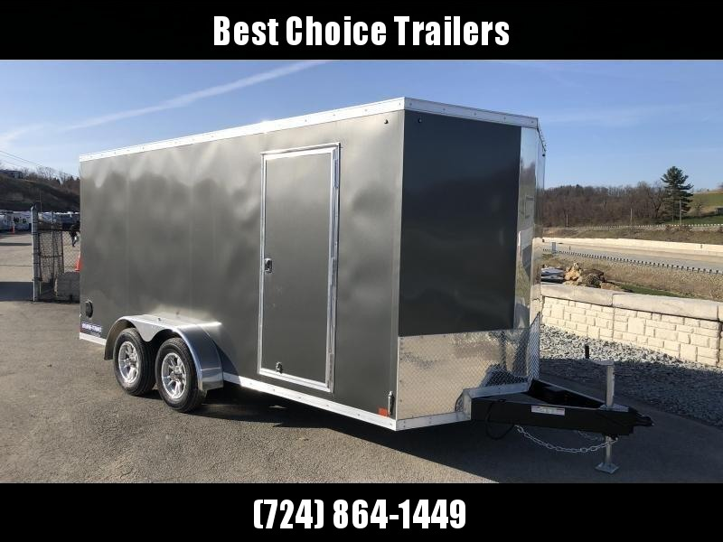 2018 Sure-Trac 7x16' Enclosed Cargo Trailer 7000# GVW * BLACK