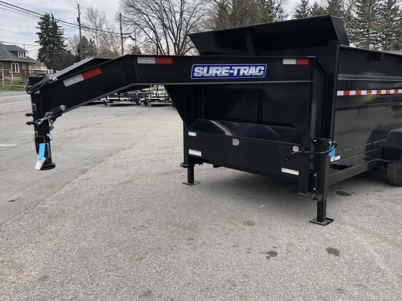 2019 Sure-Trac 7x14' Gooseneck Dump Trailer 14000# GVW * 4' HIGH SIDES * I-BEAM NECK * FULL FRONT TOOLBOX