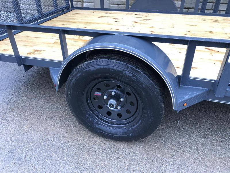 2019 X-on 7x12' Single Axle ATV Ramp Utility Landscape Trailer 2990# GVW * ATV SIDE RAMPS * 4' HD GATE W/ SPRING ASSIST * CHARCOAL * FULL WRAP TONGUE