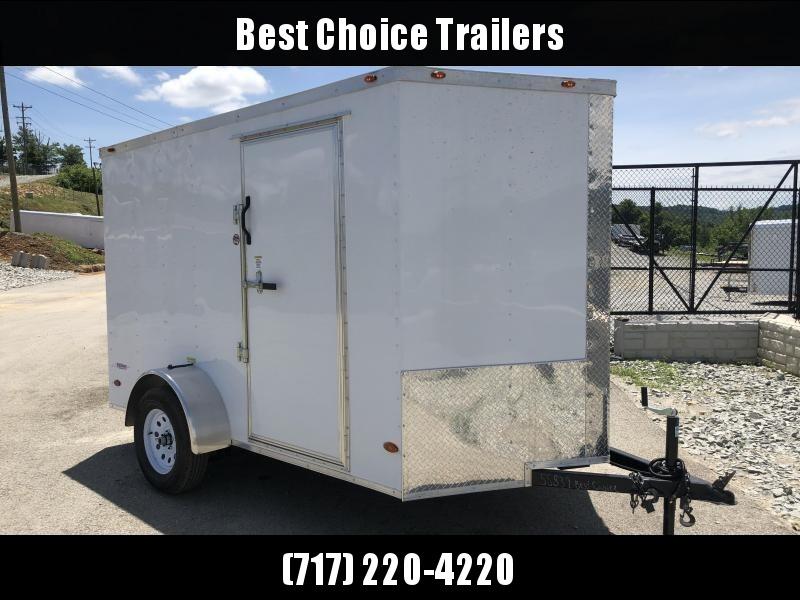 2019 Freedom 6x10' Enclosed Cargo Trailer 2990# GVW * RAMP * WHITE
