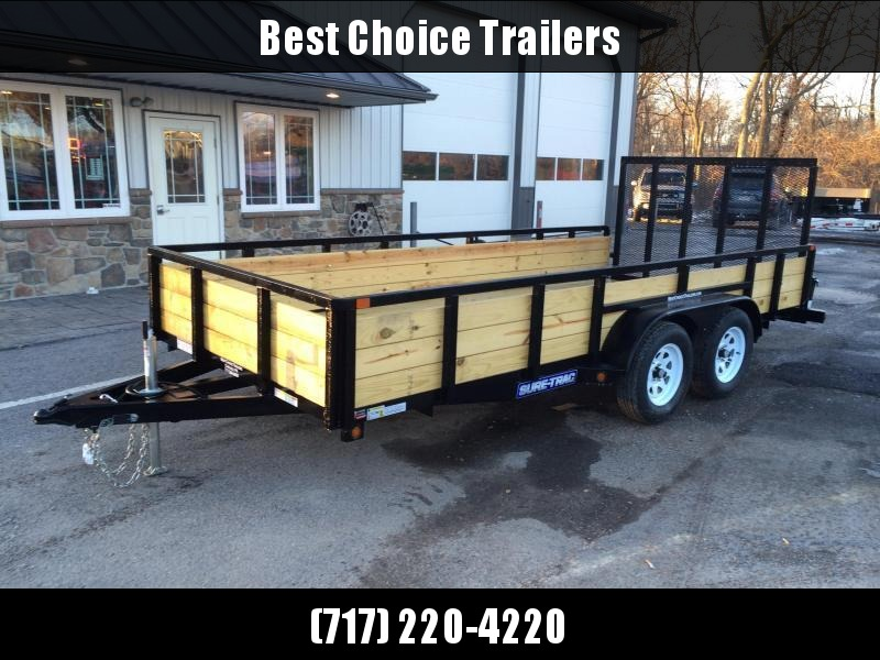 2018 Sure-Trac 7x14' Tube Top Three Board High Side Landscape Utility Trailer 7000# GVW