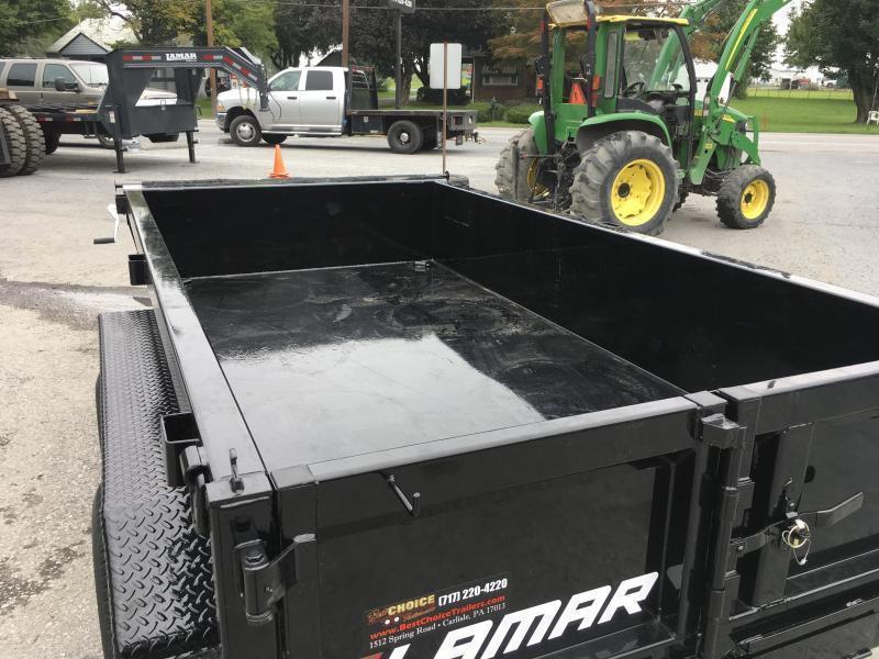 2018 Lamar 5x10' Tandem Axle DS60 Dump Trailer 7000# GVW - STANDARD * SPARE MOUNT * RAMPS