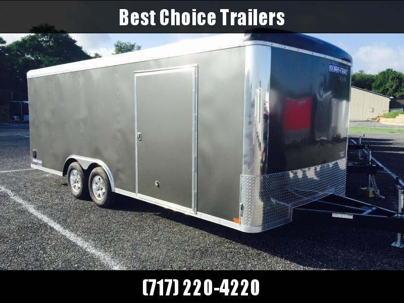2018 Sure-Trac 8.5x20 Round Top Car Hauler 9900# GVW CHARCOAL