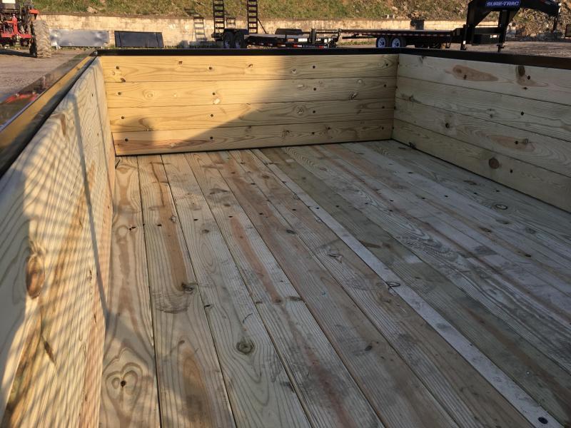 "2019 AMO 76""x10' Wood HIGH SIDE Angle Iron Utility Landscape Trailer 2990# GVW * 4-BOARD HIGH SIDE"