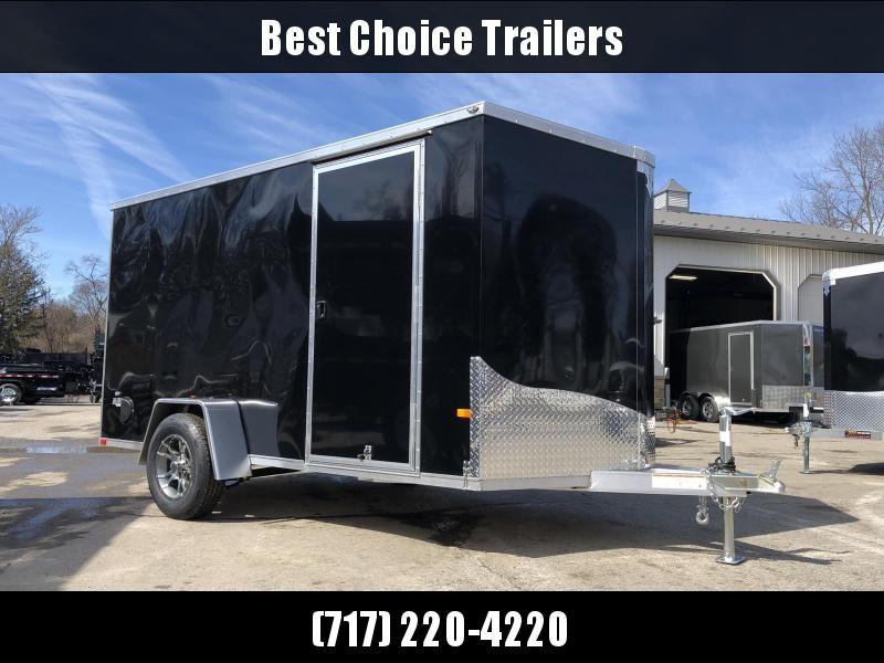 2019 Neo 6x12' NAVF Aluminum Enclosed Cargo Trailer * RAMP DOOR * BLACK * ALUMINUM WHEELS