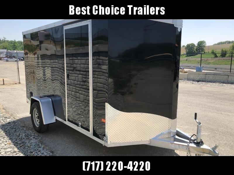 2019 Neo 6x12' NAVF Aluminum Enclosed Cargo Trailer * RAMP DOOR * BLACK