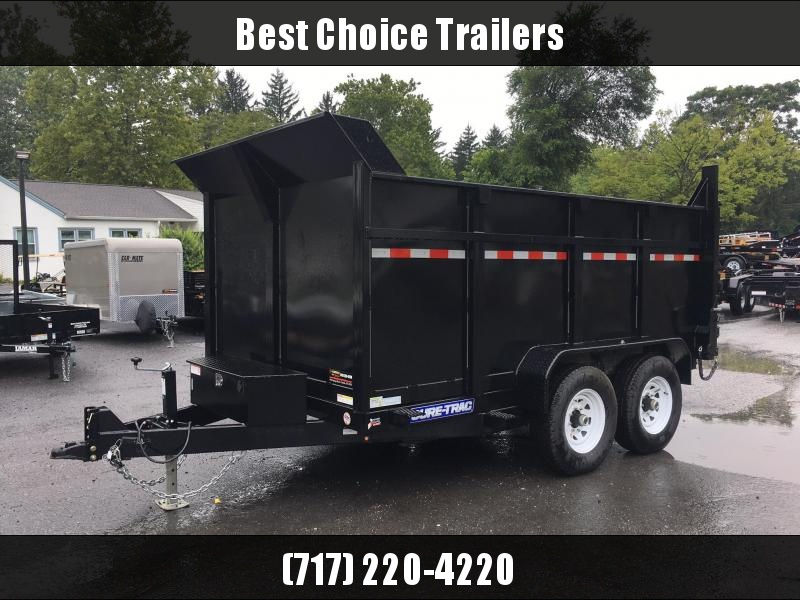2018 Sure-Trac 7x12' Low Profile Hydraulic Dump Trailer 12000# 4' HIGH SIDES + BULKHEAD