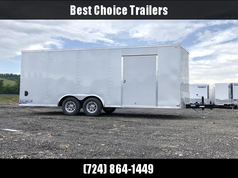 "2019 Sure-Trac 8.5x20' Enclosed Car Trailer 9900# GVW * DELUXE * SILVER * 7K JACK * ESCAPE HATCH * FINISHED WALLS * NUDO FLOOR & RAMP * TORSION * 48"" DOOR & MORE"