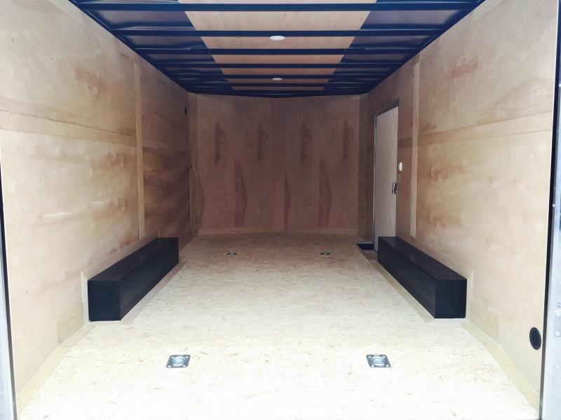 2019 Sure-Trac 8.5x24' 9900# STWCH Commercial Enclosed Cargo Trailer * V-NOSE * RAMP DOOR * SILVER * ALUMINUM WHEELS