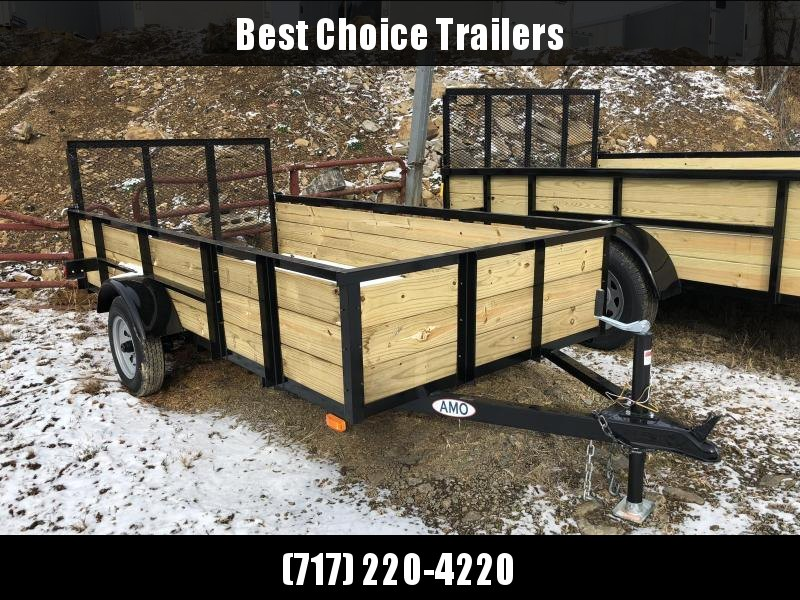 2019 AMO 5x10' Wood High Side Angle Iron Utility Landscape Trailer 2200# GVW
