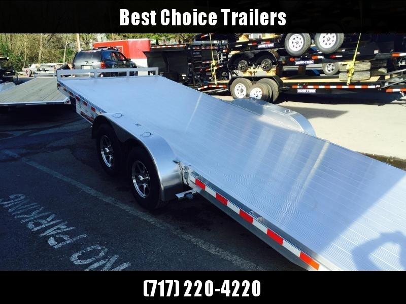 2018 H&H 7x22' Aluminum Power Tilt Car Trailer 9990# GVW * EXTRUDED ALUMINUM FLOOR * TORSION * SWIVEL D-RINGS * EXTRA STAKE POCKETS