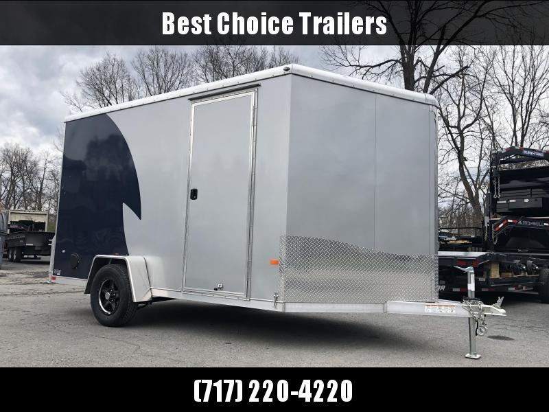 "2019 Neo 7x12 NAMR Aluminum Enclosed Motorcycle Trailer SINGLE AXLE 2990# GVW * INDIGO & SILVER * VINYL WALLS * ALUMINUM WHEELS * +12"" HEIGHT UTV SPORTS PACKAGE in Ashburn, VA"