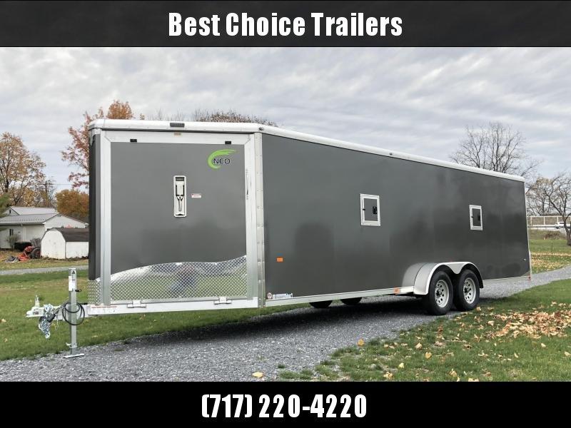 2019 Neo 7x28' NASR Aluminum Enclosed All-Sport Trailer * DELUXE MODEL * CHARCOAL * UTV * ATV * Motorcycle * Snowmobile