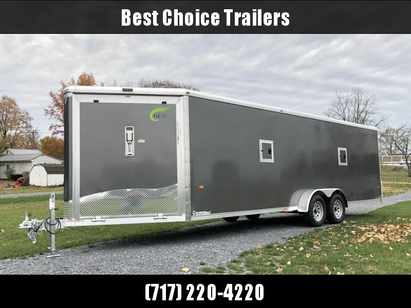 2019 Neo 7x28' NASR Aluminum Enclosed All-Sport Trailer * DELUXE MODEL * CHARCOAL * UTV * ATV * Motorcycle * Snowmobile in Ashburn, VA