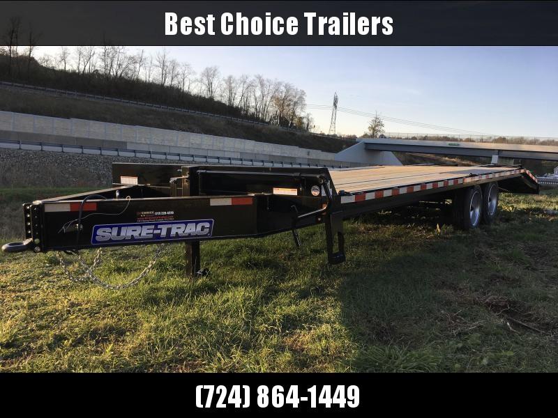 "2019 Sure-Trac 102""x20+5' LowPro Deckover Trailer 17600# GVW - PIERCED FRAME"