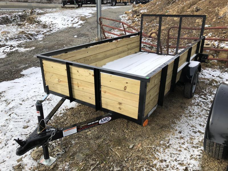 2019 AMO 5x10' Wood High Side Angle Iron Utility Landscape Trailer 2200# GVW