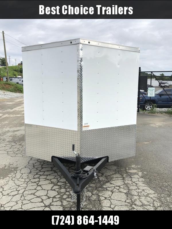 2019 Wells Cargo 7x14' Road Force Enclosed Cargo Trailer 7000# GVW * ALUMINUM WHEELS * WHITE * RAMP DOOR * V-NOSE * .030 ALUM EXTERIOR * 1 PC ALUM ROOF * ARMOR GUARD