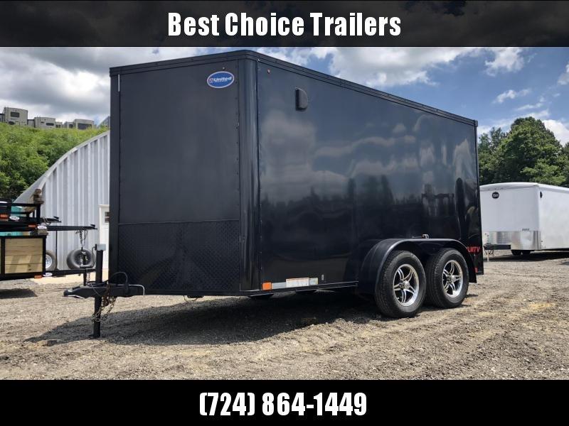 USED 2015 United 7x12' Enclosed Motorcycle Cargo Trailer 7000# * BLACKOUT * SCREWLESS * FINISHED INTERIOR * ALUMINUM WHEELS in Ashburn, VA