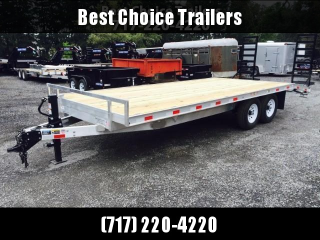 2017 H&H 102x18+4 Aluminum Deckover Equipment Trailer 14000# ** CLEARANCE