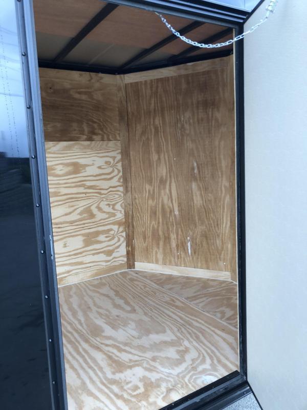 2019 Rock Solid 6x12' Enclosed Cargo Trailer 2990# GVW * BLACK * RAMP * VNOSE