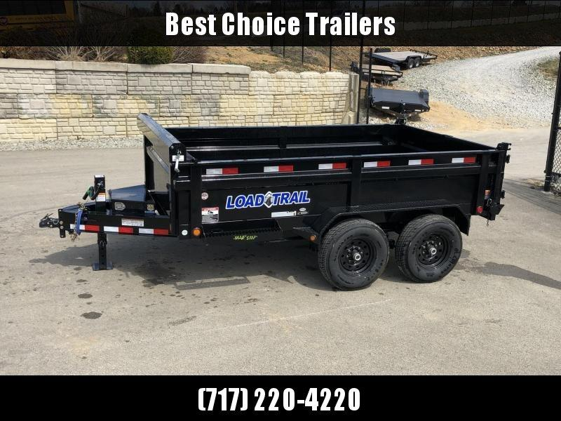 """2019 Load Trail 7x12' Gooseneck Dump Trailer 14000# GVW * GD8312072 * 8"""" I-BEAM FRAME * 12K JACK * 3-WAY GATE * TARP KIT * SCISSOR HOIST * 10GA 2PC SIDES & FLOOR * 6"""" TUBE BED FRAME * 110V CHARGER * DEXTER'S * 2-3-2 * POWDER PRIMER"""