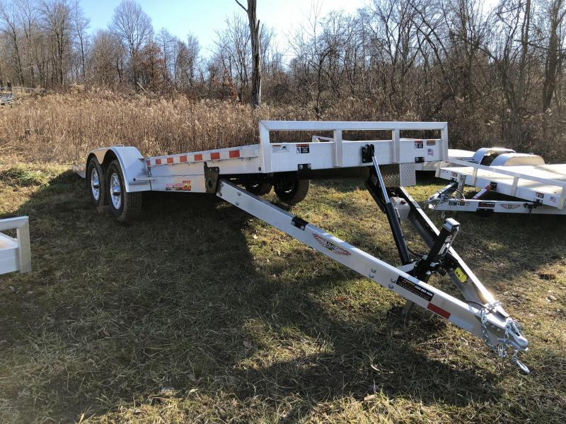 2018 H&H 7x20' Aluminum Power Tilt Car Trailer 9990# GVW * 2 TOOLBOXES * SPARE MOUNT