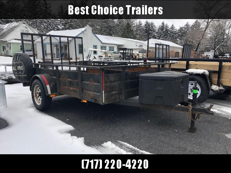 USED 2012 Carry-On 5x8' High Side Utility Landscape Trailer 2990# GVW * TOOLBOX