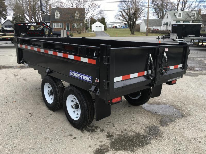 2019 Sure-Trac 6x10' SD Deckover Dump Trailer 9900# GVW * FOLD DOWN SIDES * HIGH SIDES * BARN DOORS * CLEARANCE - FREE ALUMINUM WHEELS