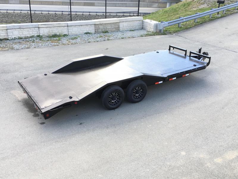"2019 Iron Bull 102""x20' Steel Deck Car Trailer 9990# GVW * 102"" DECK * DRIVE OVER FENDERS * BUGGY HAULER * STEEL DECK * HD FRAME * FREE ALUMINUM WHEELS"