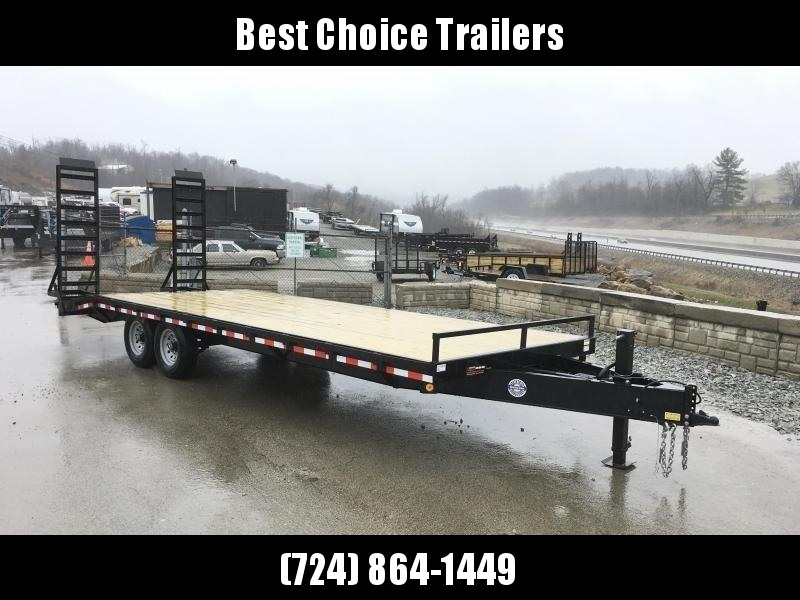 2018 QSA 102x20+4 HD LP Beavertail Deckover Trailer 13600# * CLEARANCE - FREE ALUMINUM WHEELS