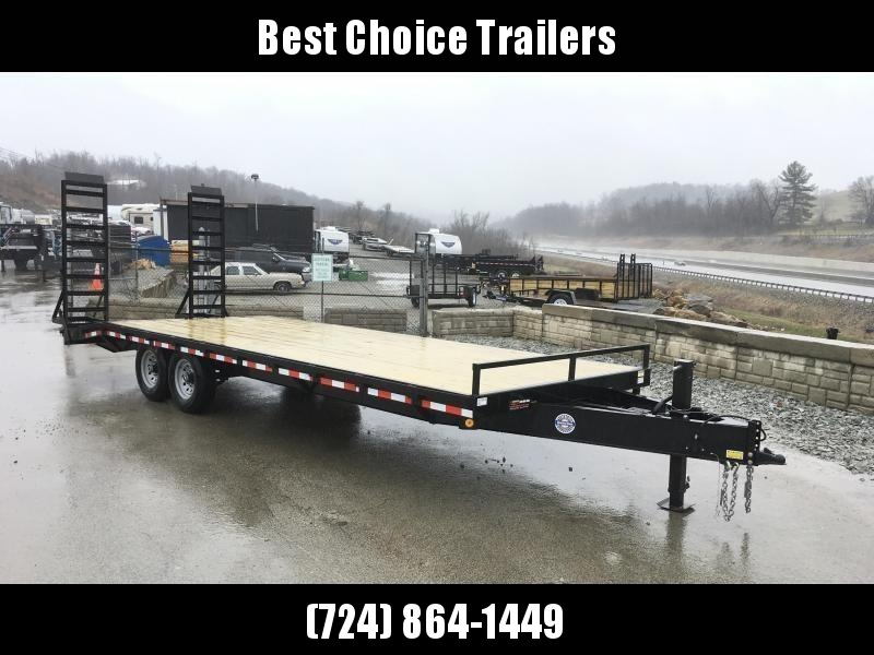 2018 QSA 102x20+4 HD LP Beavertail Deckover Trailer 13600# * CLEARANCE - FREE ALUMINUM WHEELS