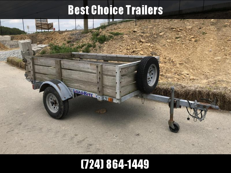 USED 2000 Load Rite 5x8' Galvanized Tilt Utility Trailer 2600# GVW