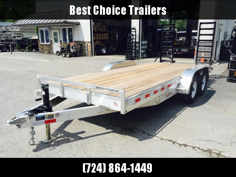 2018 H&H HAD 7x20 ALUMINUM Equipment Trailer 9990# GVW * TORSION * CLEARANCE