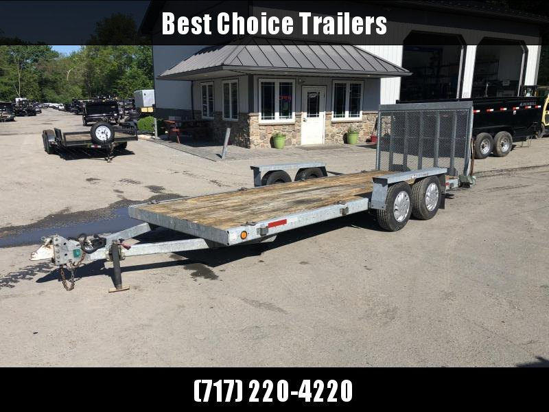 USED 1996 MGS Galvanized Utility Car Trailer 6.5'x18' 7000# * ATV / UTV / COMPACT TRACTOR / GOLF CARTS