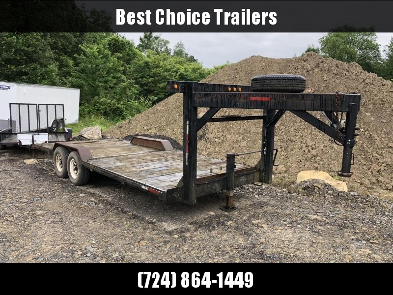 USED 8X20' Gooseneck Car Hauler * BUGGY HAULER - FULL WIDTH DECK * DRIVE OVER FENDERS * ATV/UTV HAULER in Ashburn, VA