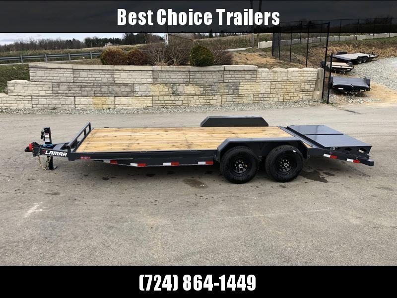 2019 Lamar 7x20' Equipment Trailer 14000# GVW - FULL WIDTH RAMPS * CHARCOAL in Ashburn, VA
