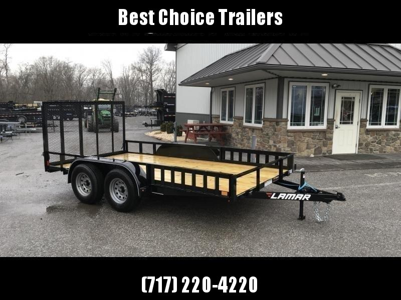 2019 Lamar 7x16' ATV Utility Trailer 7000# GVW ATV SIDE RAMPS * 7' WIDTH * CHARCOAL * ADJUSTABLE COUPLER