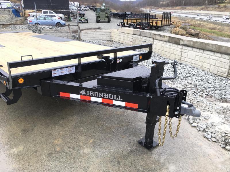 """2019 Iron Bull 102""""x24' Deckover Power Tilt Trailer 14000# GVW"""