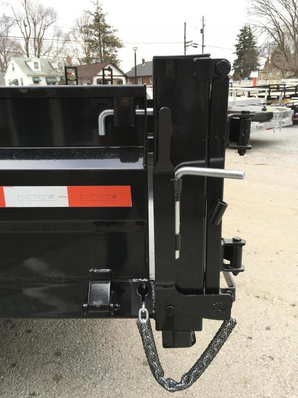 2018 Sure-Trac 8x14' HD Deckover Dump Trailer Fold Down Sides 14000# GVW * CLEARANCE