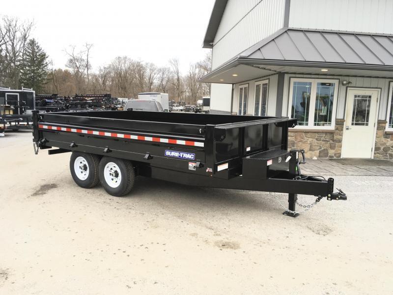 2018 Sure-Trac 8x14' HD Deckover Dump Trailer Fold Down