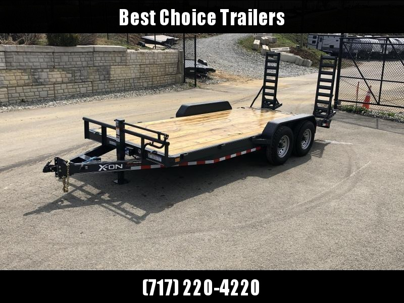 2019 X-On 7x18' Equipment Trailer 14000# GVW * CHARCOAL * STAND UP SPRING ASSIST RAMPS * 12K JACK in Ashburn, VA