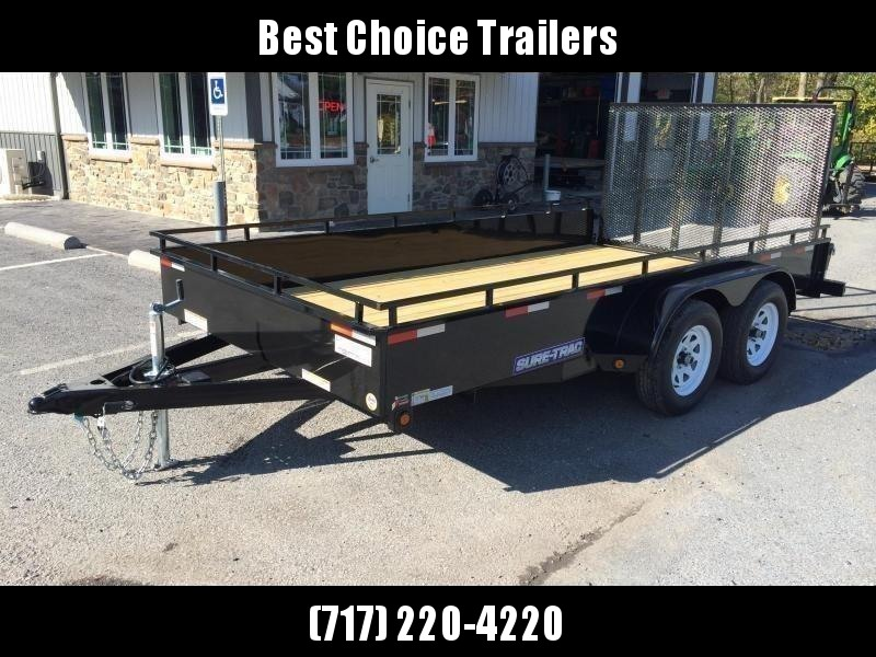 2019 Sure-Trac 7x16' Steel High Side Utility Trailer 7000# GVW