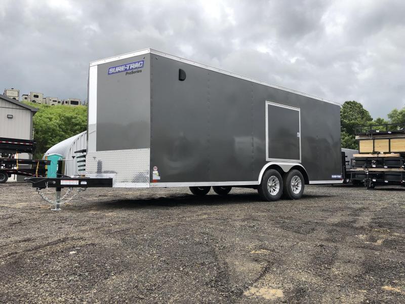 "2019 Sure-Trac 8.5x24' Enclosed Car Trailer 9900# GVW * DELUXE * BLACK * 7K JACK * ESCAPE HATCH * FINISHED WALLS * NUDO FLOOR & RAMP * TORSION * 48"" DOOR & MORE"