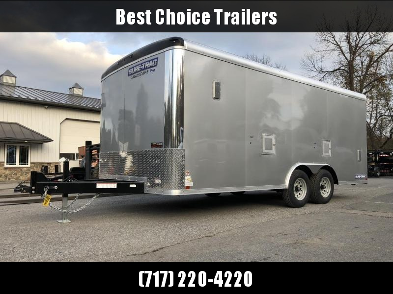 2019 Sure-Trac 8.5x18 STRCH Landscape Pro Package Trailer 9900# GVW * AVAILABLE BY SPECIAL ORDER * PROFESSIONAL LANDSCAPER SERIES