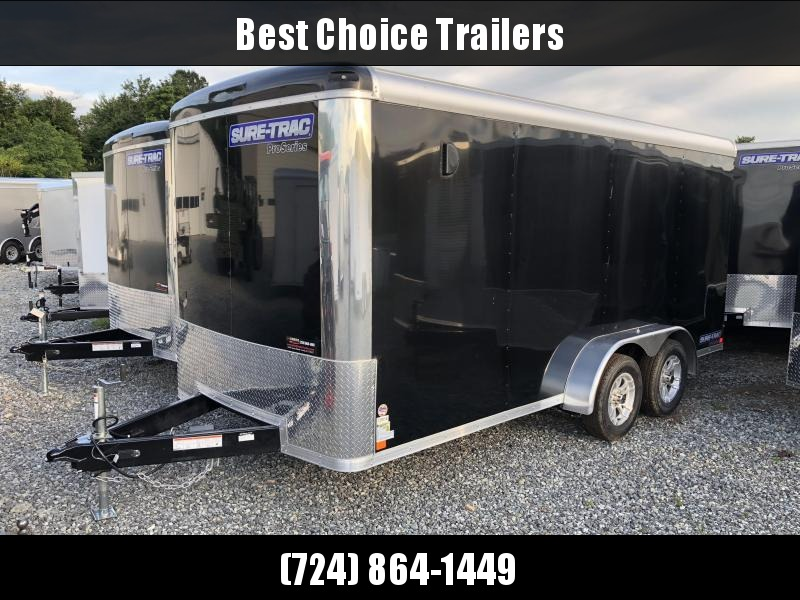 2018 Sure-Trac 7x16' Enclosed Cargo Trailer 7000# GVW - STR8416TA * BLACK