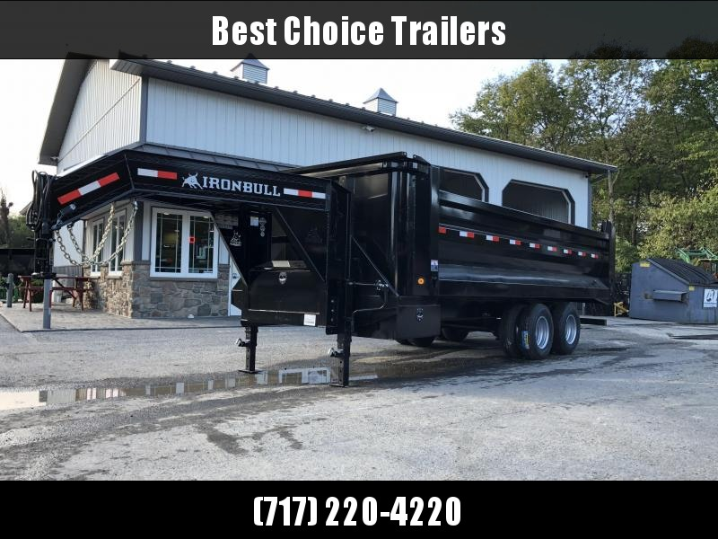 2019 Ironbull 8x20 Gooseneck Dump Trailer 22000# GVW Frankendump * TANDEM DUAL * ROCK BODY * TRUCK STYLE HD TARP KIT * DUAL BATTERY